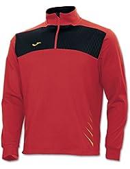 Joma Elite IV - Sudadera media cremallera para hombre, color rojo / negro, talla S