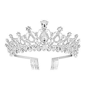 auvwxyz Diademe Tiara Kreative Haarschmuck Mode High-End-Braut Perle Krone Verheiratet, EIN Abschnitt