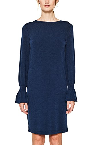 ESPRIT Damen Kleid 097EE1E016 Blau (Navy 400), Medium