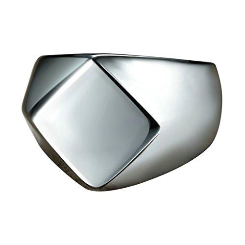 Coniea Ring für Männer Edelstahl Prismatische Oberfläche Silber Herren Ring Verlobung Größe 60 ()