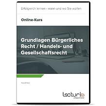 Online-Videokurs Grundlagen Bürgerliches Recht / Handels- und Gesellschaftsrecht von Rudolf Intat