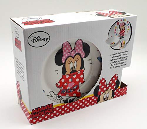 POS Handels GmbH Frühstücksset | Minnie Mouse | 3 teilig im Geschenk Karton