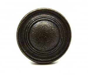 Bouton de meuble vintage en fonte ronde bouton