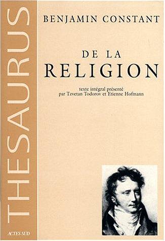 De la religion considérée dans sa source, ses formes et ses développements
