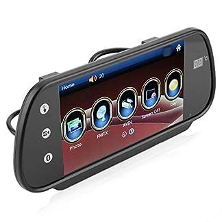 Auto-Rckspiegel-Monitor-7-Zoll-Autokamera-FM-Touchscreen-Auto-Rckseite-Rckansicht-Rckfahrkamera-Backup-Hochauflsender-Spiegel-Monitor-USBTF-Karte-1080P-Video-Player-12V