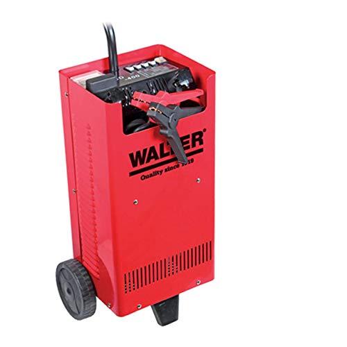 WALTER KFZ-Batterieladegerät mit Starthilfe 12 V/24 V, umschaltbar, kraftvoll, Vier Ladestromeinstellungen, Schnellladung durch Ladeschub