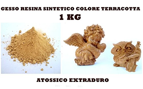 Inception Pro Infinite 1kg del miglior Gesso in Commercio - Gesso Sintetico - atossico - colabile - extraduro - Colore Terracotta - Alta Definizione e Resistenza