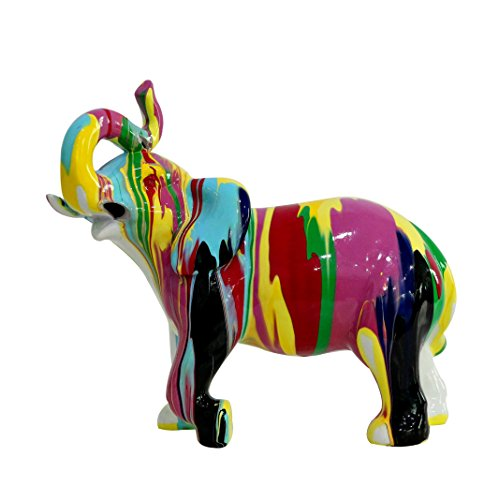 Meubletmoi - Multicolor decorative elephant statue - Modern style design