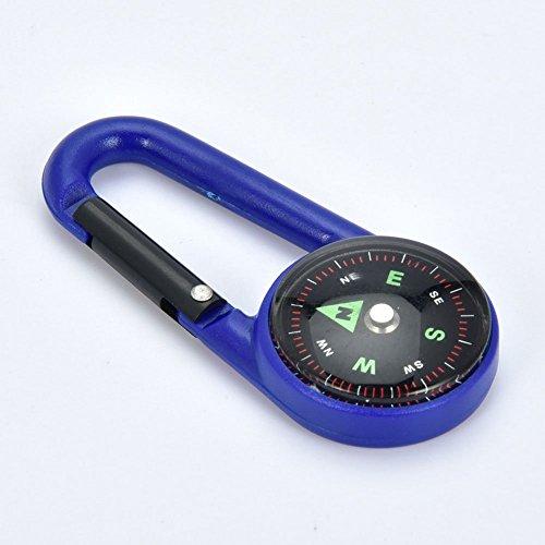 ZHEBAO Kompass Clip Kürbis Förmigen Schnalle Bergsteigen Outdoor Camping Navigation auf der Suche Nach Richtung Hängende Ornamente (Eins mit Zehn),Blue,6.9 * 3 * 1Cm