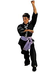 Fuji Mae - Kimono kung fu wu shu, color negro, talla 6 - 190 cm