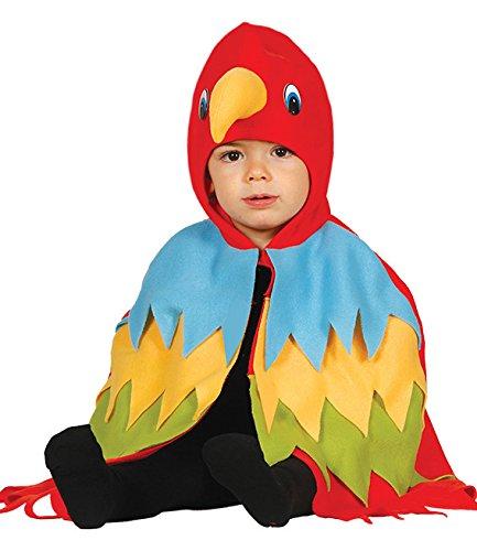 Imagen de guirca  disfraz de loro, talla 12 24 meses, color rojo 85993