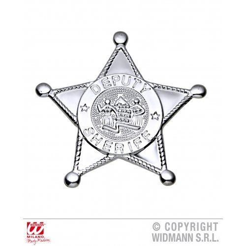 WIDMANN Silver Sheriff Star Badge Zubehör für Wild West Cowboys & Indianer Fancy Dress Up Kostüme & Outfits