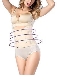 FEOYA Mujer Faja Abdominal Reductora Adelgazante con Velcro Gran Elasticidad para Postparto Recuperación Transpirable Underbust Shapewear - ES 38-52