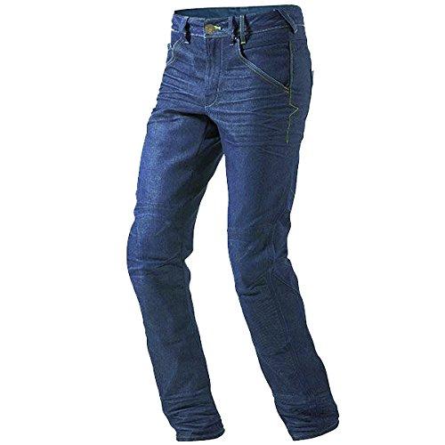 Jet pantaloni moto uomo jeans kevlar aramid con l'armatura (blu, 48 regolare/vita 32
