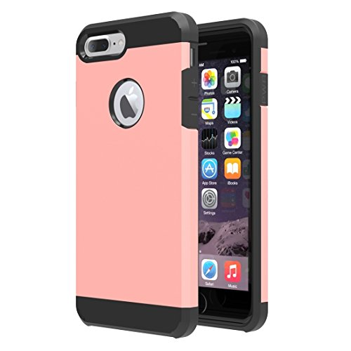Easy Go Shopping Trennbare Mieder-TPU + PC Kombinations-Fall, Kleine Menge Empfohlen vor iPhone 7 Plus, Das für iPhone 7 Plus startet (Color : Rose Gold) (Mieder Taste)