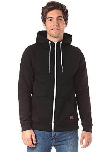 Lakeville Mountain Herren-Hoodie Timbo, Sweat-Jacke mit Kapuze, Langarm-Sweatshirt in Regular Fit, Sweater für Männer, Kapuzen-Pullover, Hoodie, Kapuzen-Pulli, Black Schwarz, L -