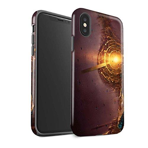 Offiziell Chris Cold Hülle / Glanz Harten Stoßfest Case für Apple iPhone X/10 / Raumfahrzeug Muster / Galaktische Welt Kollektion