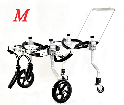 Silla de Ruedas Para Perros,Coche Para Perros, Adecuado Para Mascotas Pata Trasera Práctica Rehabilitación Miembro Discapacitado Discapacitado Lesionado Asistencia Para Caminar,Perros Pequeños Grandes