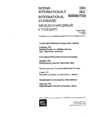 Pdf Iec 60050 723 Ed 1 0 T 1997 International Electrotechnical