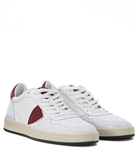 Baskets Philippe Model Lakers en cuir blanc Blanc