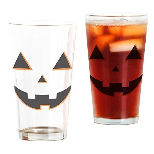 CafePress - Kürbisgesicht - Pint-Glas, 473 ml Trinkglas farblos (Einzigartige Halloween-kürbis Schnitzen)