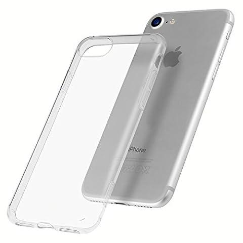 mumbi Schutzhülle für iPhone 7 Hülle transparent (UV beschichtet + Kameraschutz)