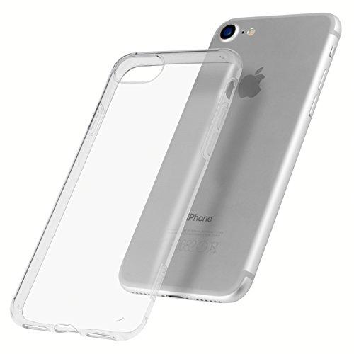 mumbi Hülle für iPhone 8/iPhone 7, transparent mit Kameraschutz und UV-Schutz gegen Vergilbung
