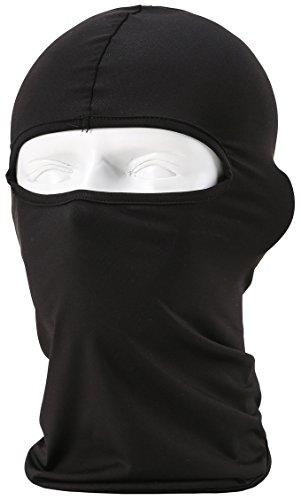 Passamontagna Unisex-Attrezzature Sportive Antivento Antipolvere Sottocasco Balaclava Regolabile Maschera Facciale per Equitazione,Nero