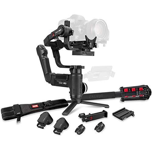 ZHIYUN Crane 3 LAB 3-Achsen-Gimbal-Stabilisator für Sony A7M3 A7R3, Canon 1DX II 6D 5D IV, G5 GH4 GH5S, Nikon D850 DSLR-Kameras, drahtlose Bildübertragung via Touch (Creator-Paket)