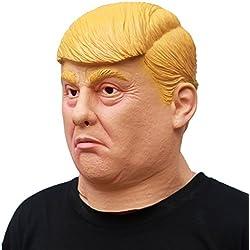 PartyCostume Máscara de Cabeza Humana de Fiesta de Traje Lujo de Halloween de Donald Trump (Grave)
