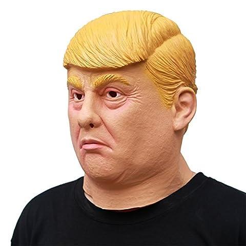 PartyCostume Deluxe Innovante Toussaint Costume Réunion Botanique homme Tête Masque Donald Trump