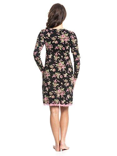 Vive Maria Damen Nachthemd Bouquet D'Amour Nightdress Mehrfarbig (Black Allover)