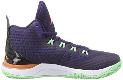 Nike Jordan Super.fly 3 Po, Chaussures de Baseball homme Bleu - Blau (Ink/bright mandarin-Black-white)