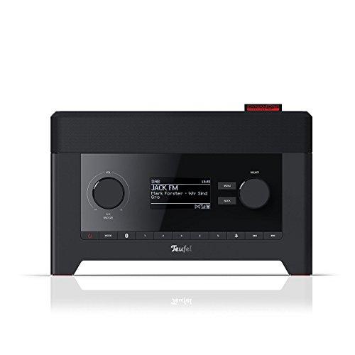Teufel Radio 3sixty Schwarz Stereo Lautsprecher Musik Sound Hochtöner Mitteltöner Bass Speaker High End HiFi Tieftöner Schalldruck Soundanlage