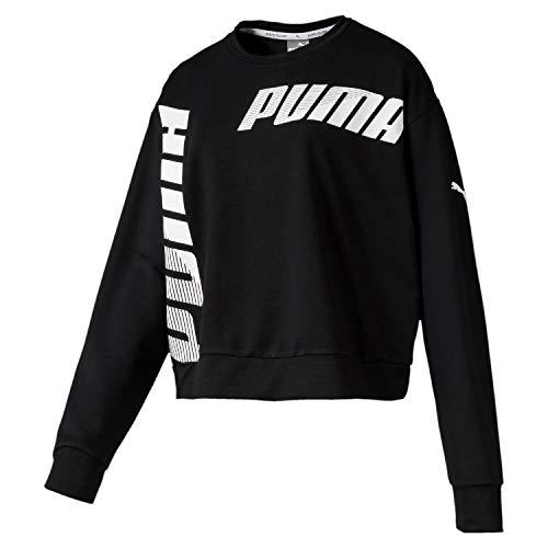 PUMA Damen MODERN Sport Crew Sweat Pullover, Black, M