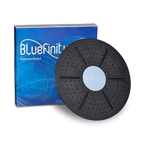 Bluefinity Balance Board, bis 150 kg, D: 36 cm, rutschfeste Noppen, Gleichgewichts-Training, Therapiekreisel, schwarz