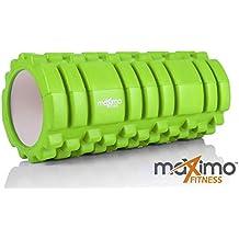 FOAM ROLLER - Roller de espuma - Trigger Point - Cámara de Aire EXTRA FUERTE - Perfecto para el gimnasio o el hogar - INSTRUCCIONES EN ESPAÑOL - 14cm x 33cm - 100% Garantía de por vida.