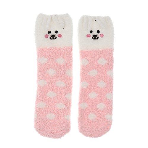 Mädchen Set Box Santa Fleece Slipper Socken Winter Weihnachten - Rosa Schwein, wie beschrieben (Schwein Anzug)