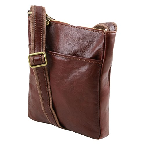Tuscany Leather Jason - Borsello da uomo in pelle Marrone Borse uomo in pelle Miele