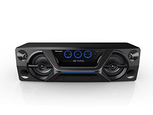 Panasonic HiFi SC-UA3GW-K Wireless Bluetooth Speaker System with CD Player and Karaoke (Black)