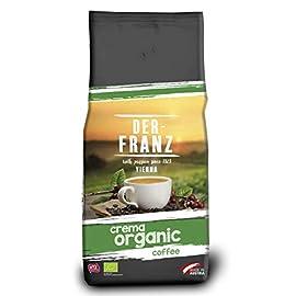 Der-Franz – Crema Organic Coffee UTZ, Whole Bean, 1000 g