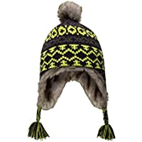 Mountain Warehouse Gorro Infantil Jacquard Criss Cross de Piel sintética, Ligero, de Colores Vivos, Bonito y para el Invierno - Ideal para climas fríos Lima Talla única