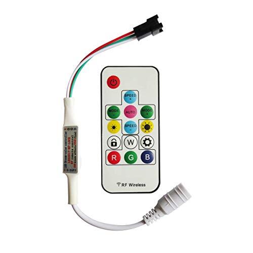 Tesfish 300 tipi di cambiamenti digitale regolatore di RGB LED Strip con 14Key RF Wireless Remote per DC5V / 12V / 24V WS2812B WS2812 Striscia