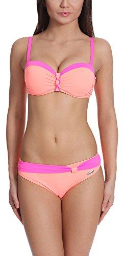 Verano Damen Bikini Set Push Up J51N3T1 (Lachs/Rosa, 36) -