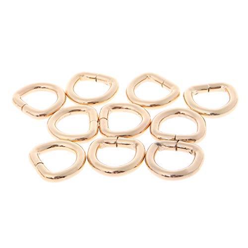 SimpleLife 12mm Metall D Ringschnallen für Schnallenriemen Taschen Gürtel, 10er Pack