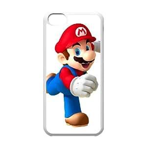 Coque iPhone Case 5c Super Smash Bros Blanc Mario Customized Design Phone Case Y5B4VT