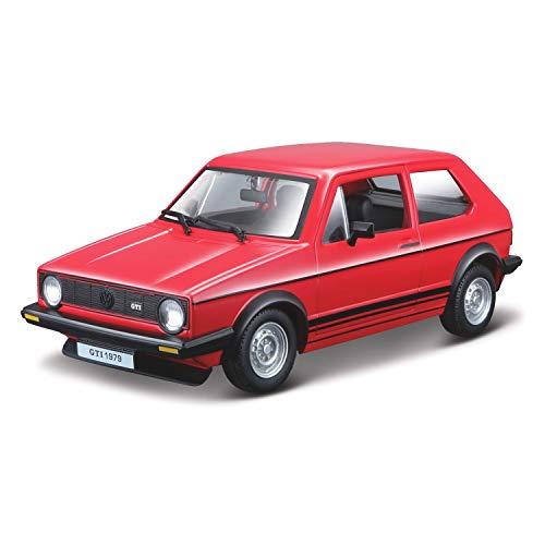 Outletdelocio. Burago 21089R. Coche Volkswagen Golf MK1 GTI 1979 Rojo. Escala 1/24. Metalico