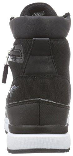 KangaROOS Woodhollow light, Bottes de neige de hauteur moyenne, doublure chaude mixte adulte Noir (Black 500)
