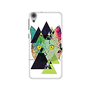 The Racoon Grip Feline Fractals hard plastic printed back case / cover for HTC Desire 820