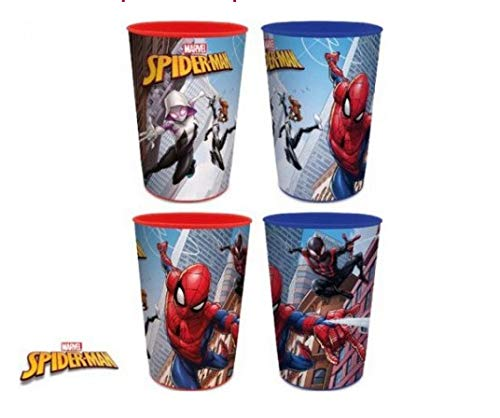 Javoli Spiderman Trinkbecher Becher Set für Kinder 4 Stück Marvel